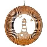 CIM Edelrost Windspiel - Leuchtturm 200 - Abmessung: Ø20cm - inkl. Kugellagerwirbel, Haken und Nylonschnur - attraktive Edelrost Dekoration