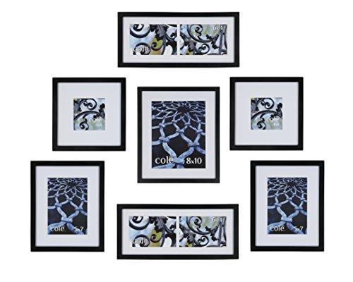 Philip Whitney 5Dunkles Holz mattierte Wandbehang Galerie Art Foto Bilderrahmen Set Horizontal oder Vertikal, 7-Piece Matted Set