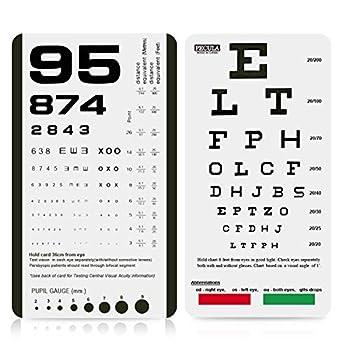 Eye Chart Pocket Eye Chart Snellen Pocket Eye Chart Rosenbaum Pocket Eye Chart  2 in 1