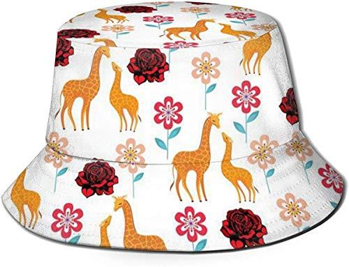 Bernice Winifred Sombreros de Cubo Transpirables con Parte Superior Plana Unisex Animal Madre Elefante Sombrero de Cubo Verano Sombrero de Pescador