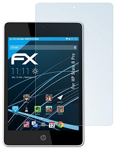 atFolix Schutzfolie kompatibel mit HP Slate 8 Pro Folie, ultraklare FX Bildschirmschutzfolie (2X)