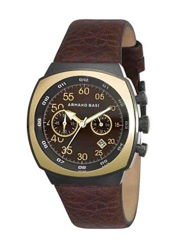 ARMAND BASI A0481G04 - Reloj de Caballero Movimiento de Cuarzo con Correa de Piel Marrón