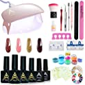 Aifaifa Gel Nail Kit with 6W Nail Lamp