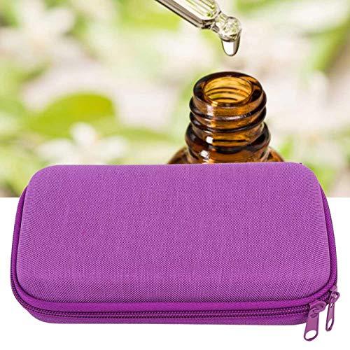 SALUTUYA Bolsa de Almacenamiento de Aceite Esencial (púrpura) 5ml 10ml Bolsa de Almacenamiento de 16 Ranuras Contenedor de Aceite Esencial para Almacenamiento para Organizador