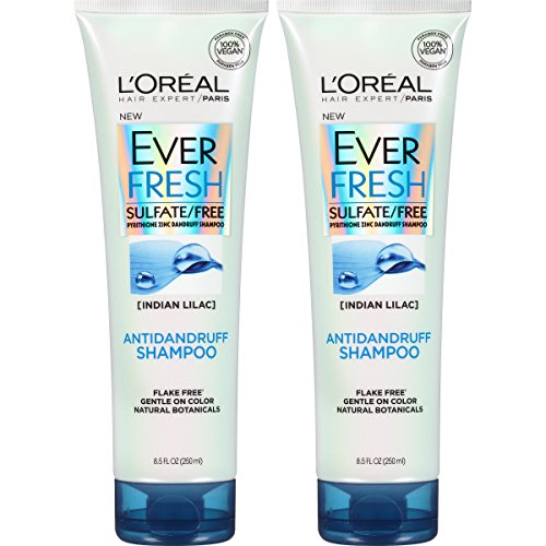 L'Oreal Paris Hair Care EverFresh Antidandruff Shampoo Sulfate Free, 2 Count (8.5 Fl; Oz each)