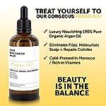Pure huile d'argan - 100% biologique pour Cheveux, Peau, Corps, Cuticles et Ongles — Revitalisant pénétrant sans rinçage/Hydratant anti-âge et antirides 100 ml. #1