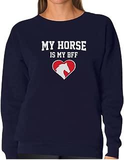 TeeStars - My Horse is My BFF Gift for Horse Lovers Women Sweatshirt