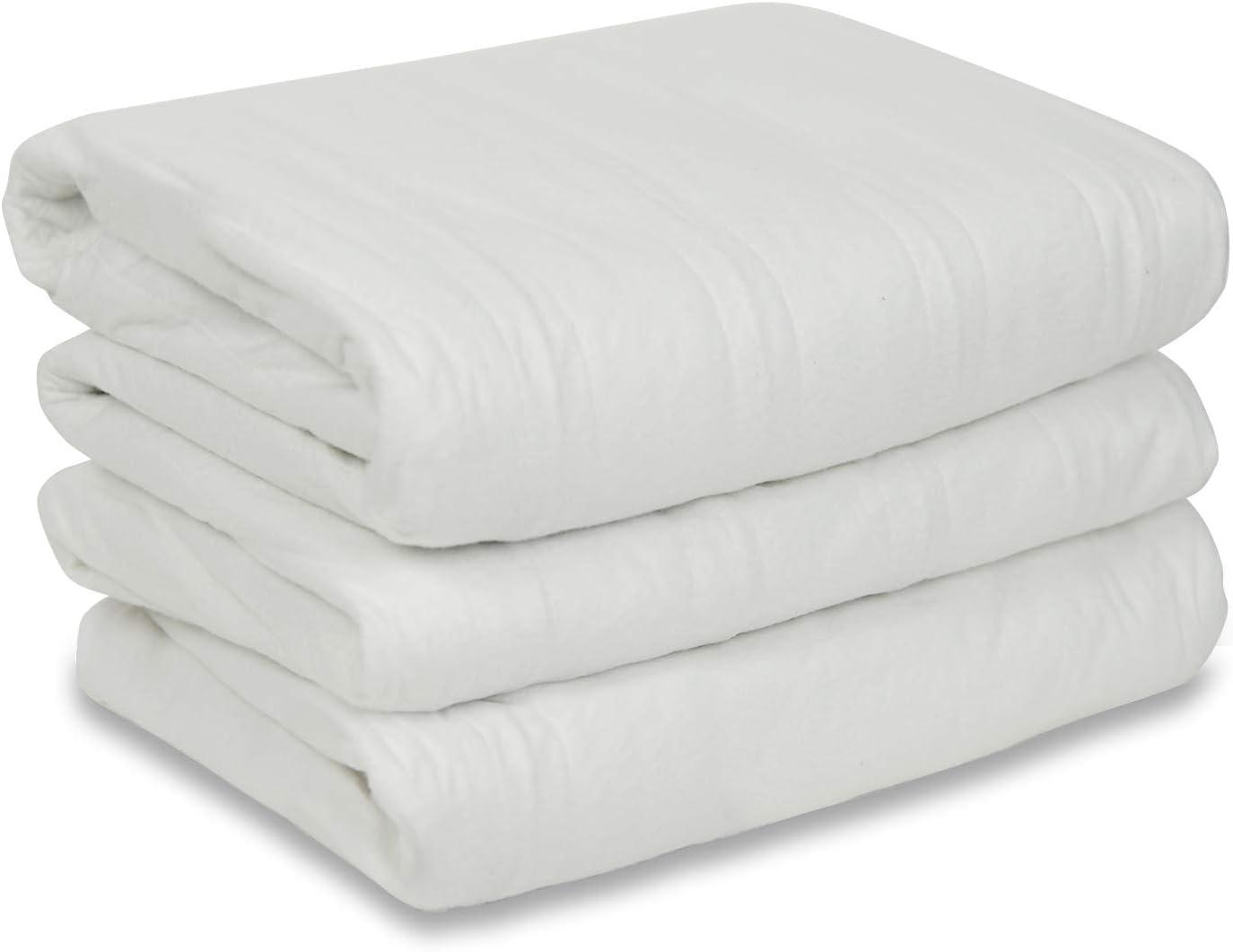 Sunbeam Heated Mattress Pad   Polyester, 10 Heat Settings,White , King - MSU1GKS-N000-11A00: Home & Kitchen