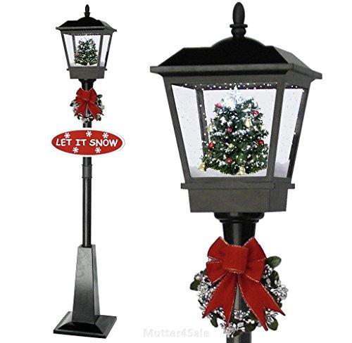 SSITG Schneiende Weihnachtslaterne Weihnachtsdeko Laterne Weihnachten rot schwarz 1,8m (deutsche Lager 3-7 Tagen Leferzeit)