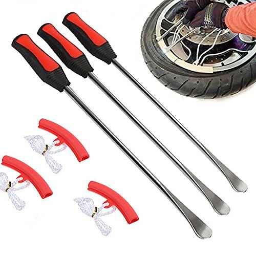 RUMUI Herramientas de Palanca de Cambio de Palanca de neumáticos Palancas de Cambio de neumáticos de Bicicleta de Motocicleta Protector de llanta Kit de neumático de Cuchara automática