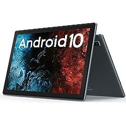 VASTKING KingPad K10 10インチ タブレット, Android 10, 解像度1920*1200,オクタコアタブレット, 最大1.8Ghz, 3GB RAM, 32 GB ROM, 13MPリアカメラ, Bluetooth 5.0, 2.4GWIFI,5G Wi-Fi, GPS, フルメタルボディ, アッシュグレー… (シルバー)
