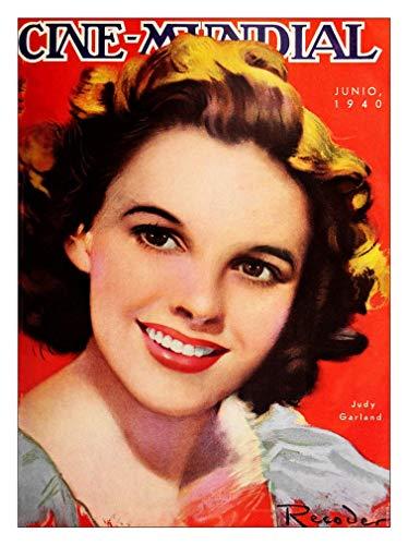 RetroArt Judy Garland Cine Mundial Magazine Cover (30x40cm Art Print)