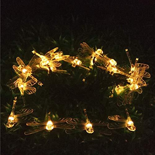 LED Solar Dragonfly String Lights Waterproof Christmas Outdoor Garden Decoration Lantern String Warm White 7m 50 Lights