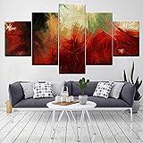 UDPBH 5 unids/Set Pintura Abstracta en Lienzo, Fuegos Artificiales Coloridos Modernos, Lienzo Combinado, Cuadro artístico para Pared, decoración del hogar, Obra de Arte