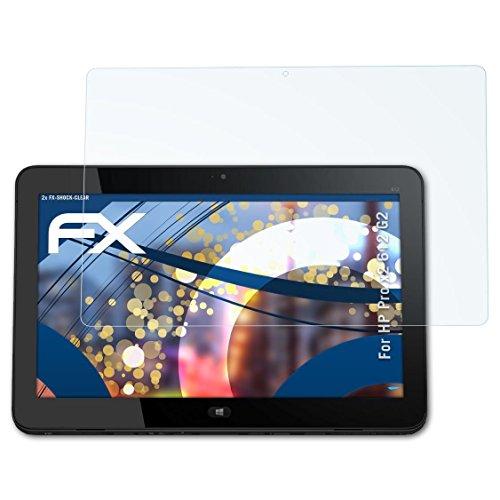 atFolix Schutzfolie kompatibel mit HP Pro x2 612 G2 Panzerfolie, ultraklare & stoßdämpfende FX Folie (2X)