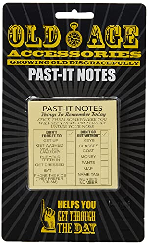 Boxer Gifts Old Age Past-It Notes | Funny Gift for Retirement Birthday Christmas Secret Santa,