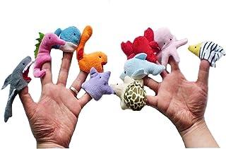 Finger Puppet, Animali marini di Finger Puppets Set, peluche Giocattoli (10 pezzi), Develop hands-on dei bambini capacità