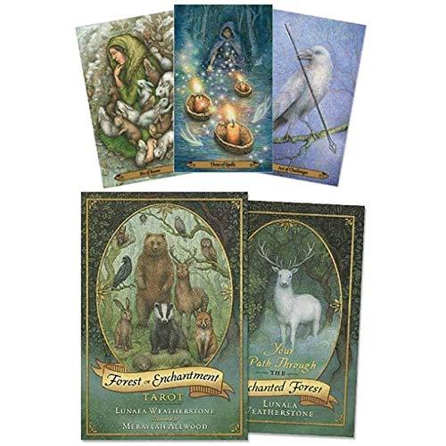 LHJY 78 Stücke Tarot Kartenschreibtisch Wald Der Verzauberung Tarot Orakelkarten Brettspiele Englisch Für Family Party Spielkarte Spiel Tisch Spiel