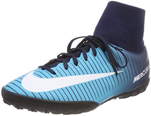 Nike Unisex JR MercurialX Victory 6 DF TF Fußballschuhe, Blau (Obsidian Blau/Weiß-Gammma Blau 404), 38 EU