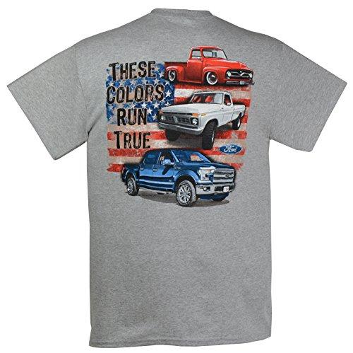 Ford 100th Anniversary Red White Blue Trucks These Colors Run True T-Shirt-XXL