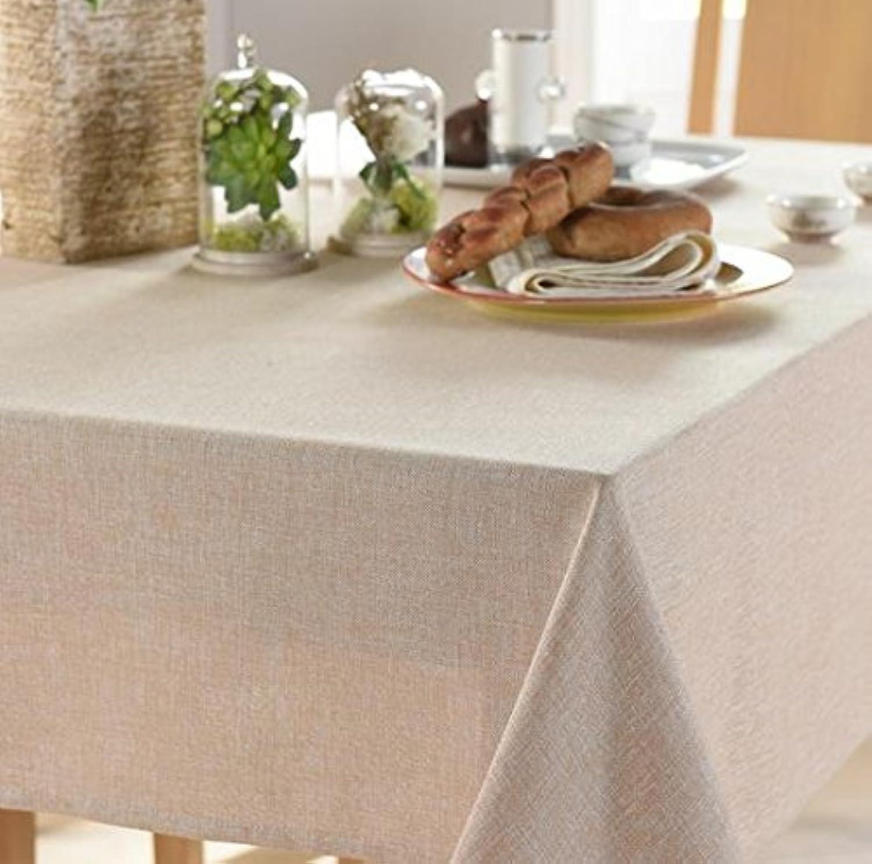 Linen Rectangle Tablecloth Dining Home Hotel Cafe Restaurant Table Cloth , khaki , 135200cm
