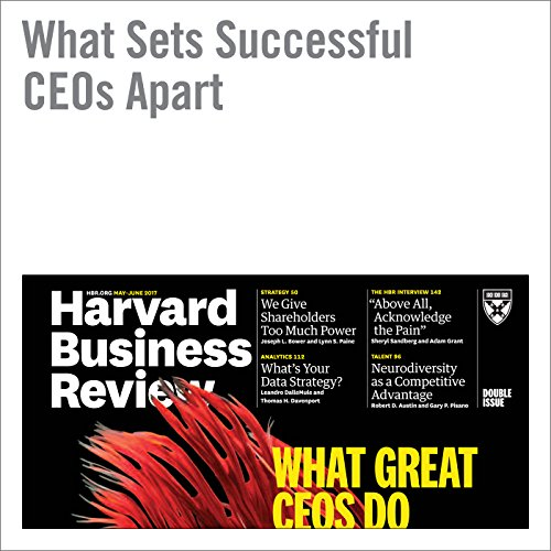 What Sets Successful CEOs Apart audiobook cover art