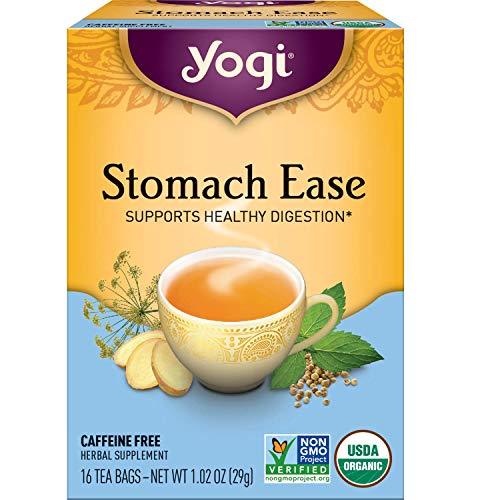 Yogi Herbal Tea Bags Stomach Ease - Supports Healthy Digestion (Pack of Two)