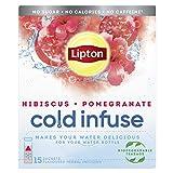 Lipton - Bolsas biodegradables para infusión fría y granada de hibisco, 15 unidades x 6 (90 en total)