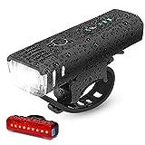 IPSXP Fahrradlicht LED Set - USB Wiederaufladbare Fahrradlichter Fahrradlampe mit Automatischem...