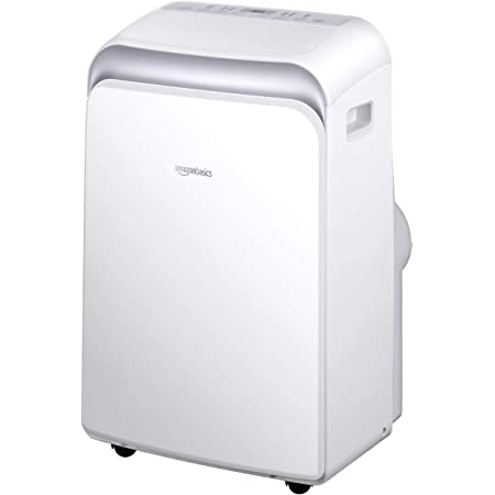 Amazon Basics Portable Air Conditioner with Remote - Cools 550 Square Feet, 12,000 BTU ASHARE / 8000 BTU SACC