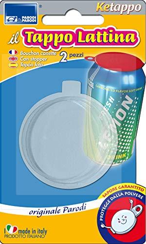 PARODI & PARODI 2 Tappi Chiusura Adatta Birra e bibite gassate, Tappo ermetico per lattina Realizzato con plastica per Alimenti Art.427, Unica