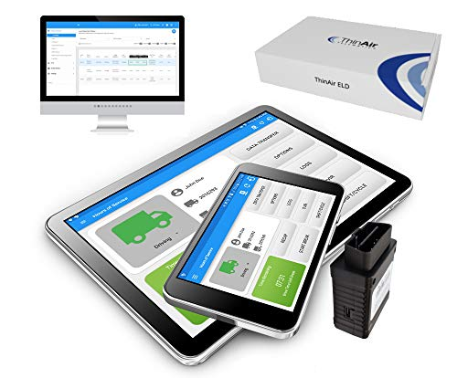 ThinAir ELD - Electronic Logging Device (BYOD - Display Not Included), DOT Compliant, IFTA, DVIR, BYOD (Light Duty/OBDII)