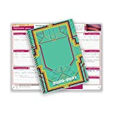 Dated Middle or High School Student Planner 2020-2021 Academic Year, 5.5x8.5 Inch Block Style Datebook with Wabash Retro Cover