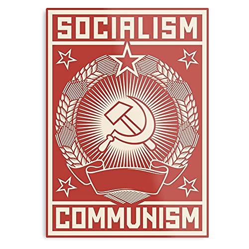 Générique Socialism Vintage Propaganda Politics Democratic Political Soviet Communism - Affiche Tendance pour la Salle de décoration d'art Mural