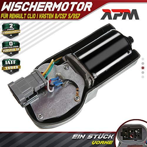 Wischermotor Scheibenwischermotor für Clio I B/C57_ 5/357_ Kasten S57_ 1990-1998 7701034656