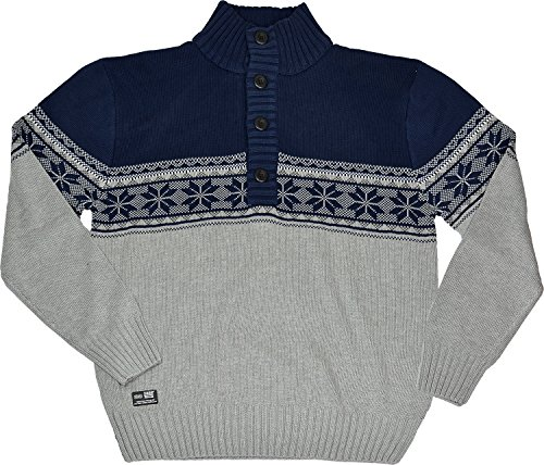 Harvies Fashions - Pull - Homme Grey & Navy