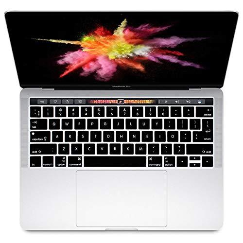 HRH Silikon-Schutzhülle für MacBook Pro 13 15 Retina-Display mit Touch Bar A1706 A1707 (2016 Okt. Release) EU und US Colemak