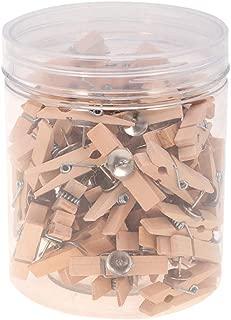 appunti archivi TONGXU ufficio 70 clip per foto in legno con puntine in sughero multicolore mollette decorative per bricolage mappe scuola e casa
