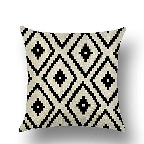 chicstyleme Funda de almohada de sofá, suave y decorativa, cuadrada, fundas de cojín de lujo para sala de estar, sofá, dormitorio, con cremallera invisible, patrones geométricos de 45 x 45 cm