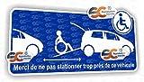 Sticker Autocollant Handicap Accès Véhicule Handicapé