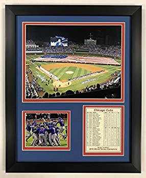 Legends Never Die Chicago Cubs - 2016 World Series - Wrigley Field - Framed 12 x15  Double Matted Photos