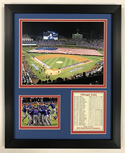 "Legends Never Die Chicago Cubs - 2016 World Series - Wrigley Field - Framed 12""x15"" Double Matted Photos"