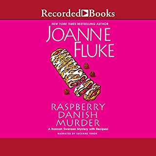 Raspberry Danish Murder audiobook cover art