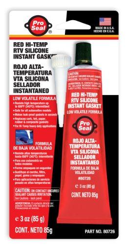 ProSeal 80726 hög temperatur RTV instant silikonpackning, röd