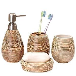 51+VnWIo5tL._SS300_ Coastal & Beach Bathroom Accessories Sets