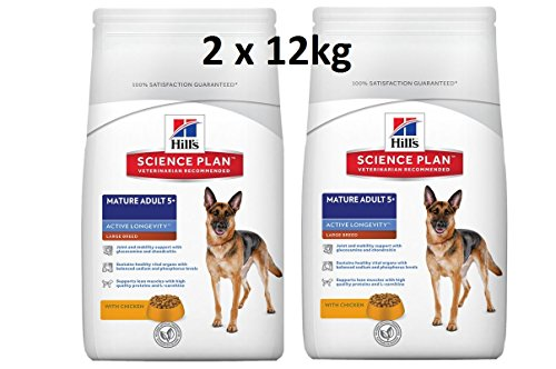 Hills Canine Mature Adult Senior Large Breed 2 x 12kg Hundefutter