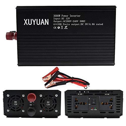 ZCME-power Wechselrichter 3000W (Peak 3000W), Reiner Sinus Wechselrichter, DC 12V / 24V Auf AC 110V / 220V Spannungswandler,12VTO110V