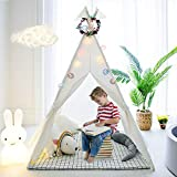 TreeBud Tenda per Bambini, Tenda da Gioco Classica Indiana in Tela di Cotone con Borsa per Il...