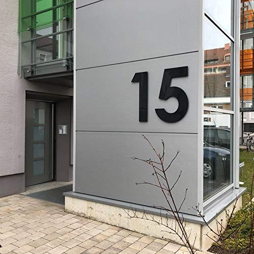 Hausnummer Acryl Anthrazit 8 mm Matt RAL: 7016 - Türnummer - Post Nummer - Plexiglas