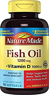Nature Made Fish Oil 1,200 mg + VIT D 1,000 IU Softgels, 90 ct - coolthings.us